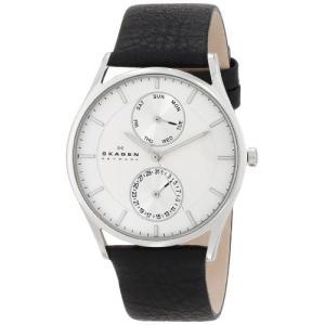 当店1年保証 スカーゲンSkagen Men's Holst Quartz Stainless Steel and Leather Casual Watch, Color: Silver-Tone, Black (M|planetdream