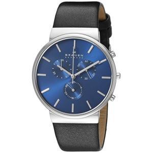 当店1年保証 スカーゲンSkagen Men's SKW6105 Ancher Black Leather Watch|planetdream