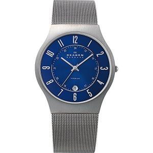 当店1年保証 スカーゲンSkagen Men Sundby Quartz Titanium and Stainless Steel Mesh Casual Watch, Color: Grey (Model: 233|planetdream