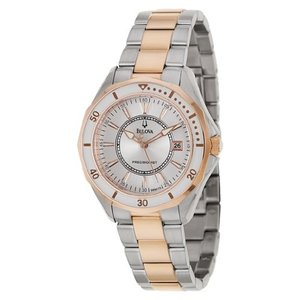 当店1年保証 ブローバBulova Women's 98M113 WINTER PARK Two Bone Bracelet Watch|planetdream