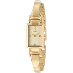 当店1年保証 ブローバBulova Women's 97P104 Goldtone Bracelet Watch|planetdream