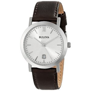 当店1年保証 ブローバBulova Unisex 96B217 Stainless Steel Watch with Brown Leather Band|planetdream
