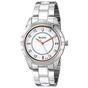 当店1年保証 ブローバBulova Women's 98P135 Diamond-Accented Dial Watch in Silver Tone|planetdream