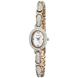 当店1年保証 ブローバBulova Women's 98L200 Stainless Steel Swarovski Crystal-Accented Watch|planetdream