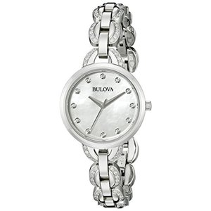 当店1年保証 ブローバBulova Women's 96L203 Analog Display Japanese Quartz Silver Watch|planetdream