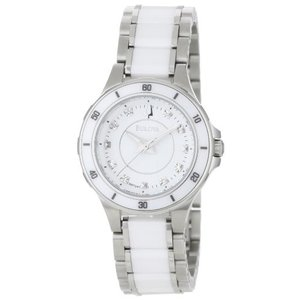 当店1年保証 ブローバBulova Women's 98P124 Substantial Ceramic & Stainless Steel Watch|planetdream