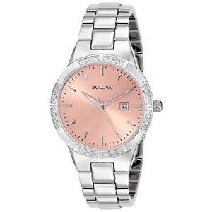 当店1年保証 ブローバBulova Women's 96R175 Diamond-Set Case Watch|planetdream