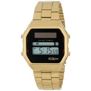 当店1年保証 ベスタルVestal Unisex SYNDM03 Syncratic Solar Power Gold Brushed Watch|planetdream