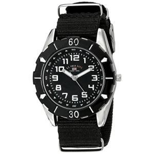 当店1年保証 ユーエスポロアッスンU.S. Polo Assn. Kids' USB75027 Stainless Steel Watch with Black Nylon Strap planetdream