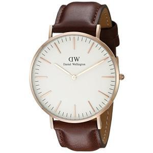 当店1年保証 ダニエルウェリントンDaniel Wellington Men's 0106DW St. Mawes Stainless Steel Watch with Brown Band|planetdream