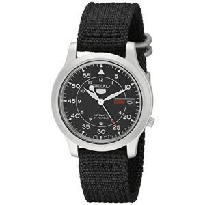 当店1年保証 セイコーSeiko Men's SNK809 Seiko 5 Automatic Stainless Steel Watch with Black Canvas Strap planetdream