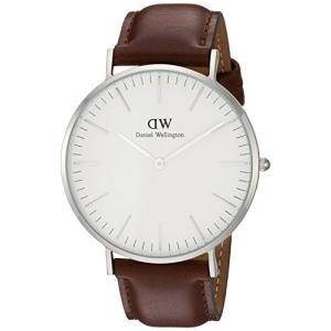 当店1年保証 ダニエルウェリントンDaniel Wellington Men's 0207DW St. Mawes Stainless Steel Watch with Brown Leather|planetdream
