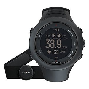 当店1年保証 スントSuunto Ambit3 Sport Black (HR) Digital Display Quartz Watch, Black Elastomer Band, Round 50mm Case|planetdream