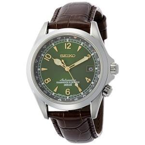 当店1年保証 セイコーSeiko Men's Stainless Steel Japanese-Automatic Watch with Leather Calfskin Strap, Brown, 20 (Model: planetdream