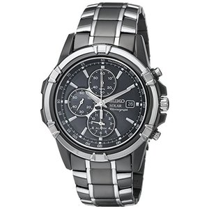当店1年保証 セイコーSeiko Men's SSC143 Stainless Steel Solar Watch with Link Bracelet|planetdream