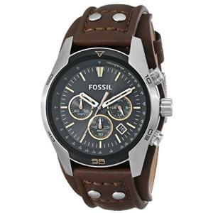 当店1年保証 フォッシルFossil Men's Coachman Quartz Stainless Steel and Leather Casual Watch Color: Silver, Brown (Mode|planetdream