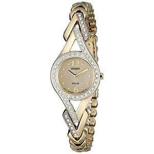 当店1年保証 セイコーSeiko Women's SUP176 Swarovski Crystal-Accented Stainless Steel Solar Watch|planetdream
