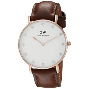 当店1年保証 ダニエルウェリントンDaniel Wellington Women's 0950DW Classy St. Mawes Watch With Brown Leather Band|planetdream