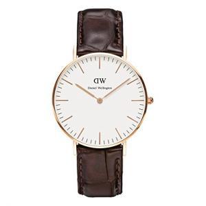 当店1年保証 ダニエルウェリントンDaniel Wellington Women's 0510DW Classic York Analog Quartz Brown Leather Watch|planetdream