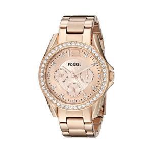 当店1年保証 フォッシルFossil Women's Riley Quartz Stainless Steel Chronograph Watch, Color: Rose Gold (Model: ES2811)|planetdream