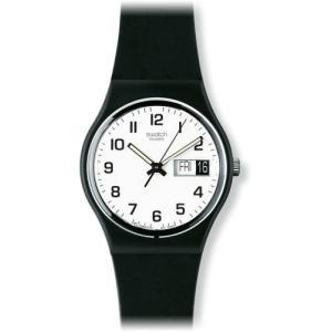 当店1年保証 スウォッチSwatch Women's GB743 Once Again Black Plastic Watch|planetdream