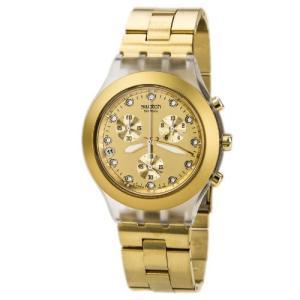 当店1年保証 スウォッチSwatch Men's SVCK4032G Stainless Steel Analog Watch with Gold-Tone Dial|planetdream