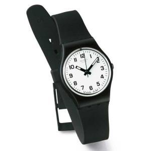 当店1年保証 スウォッチSwatch Women's LB153 Something New Black Plastic Watch|planetdream