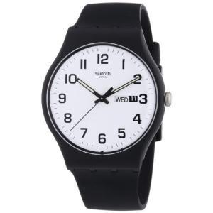 当店1年保証 スウォッチSwatch Classic Quartz Silicone Strap, Black, 20 Casual Watch (Model: SUOB705)|planetdream