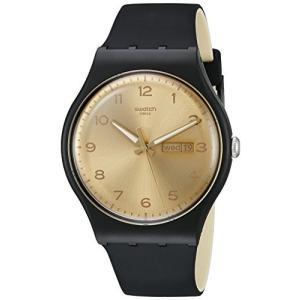当店1年保証 スウォッチSwatch Unisex SUOB716 Originals Analog Display Swiss Quartz Black Watch|planetdream