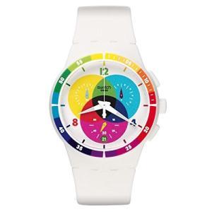 当店1年保証 スウォッチSwatch Unisex SUSW404 Chromograph Analog Display Quartz White Watch|planetdream