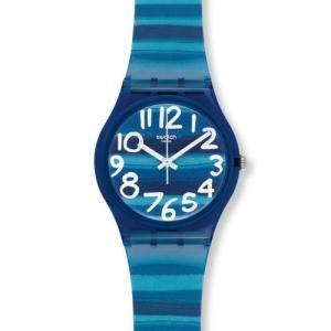 当店1年保証 スウォッチSwatch Unisex GN237 Blue Plastic Watch|planetdream
