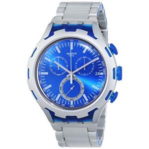 当店1年保証 スウォッチSwatch Men's YYS4001AG Irony Analog Display Swiss Quartz Silver Watch|planetdream