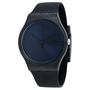 当店1年保証 スウォッチSwatch New Gent Quartz Silicone Strap, Black, 20 Casual Watch (Model: SUOB702)|planetdream