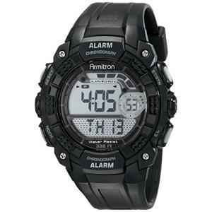 当店1年保証 アーミトロンArmitron Sport Men's 408209BLK Digital Watch|planetdream