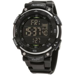 当店1年保証 アーミトロンArmitron Sport Men's 40/8254BLK Black Digital Chronograph Watch|planetdream