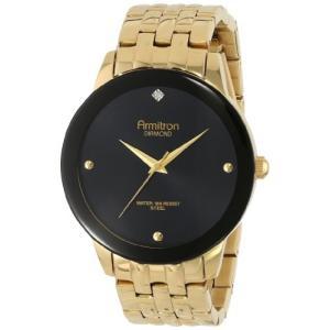 当店1年保証 アーミトロンArmitron Men's 20/4952BKGP Diamond Dial Wall-to-Wall Crystal Gold-Tone Bracelet Watch|planetdream