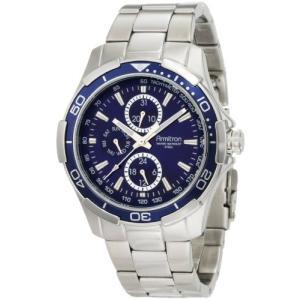 当店1年保証 アーミトロンArmitron Men's 204677BLSV Stainless Steel Bracelet Watch|planetdream