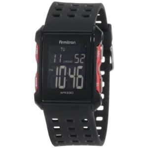 当店1年保証 アーミトロンArmitron Sport Men's 408177RED Chronograph Black and Red Digital Watch|planetdream