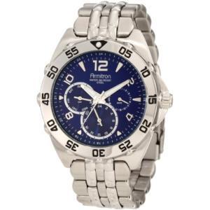 当店1年保証 アーミトロンArmitron Men's 204664BLSV Stainless Steel Sport Watch|planetdream