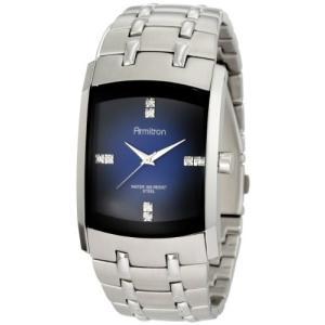 当店1年保証 アーミトロンArmitron Men's 204507DBSV Stainless Steel Dress Watch with Swarovski Crystals|planetdream