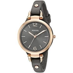 当店1年保証 フォッシルFossil Women's Georgia Analog-Quartz Leather Watch, Color: Grey, 8 (Model: ES3077)|planetdream