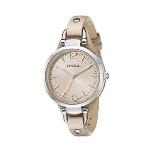 当店1年保証 フォッシルFossil Women's Georgia QuartzLeather Watch, Color: Silver, Tan, 12 (Model: ES2830)|planetdream