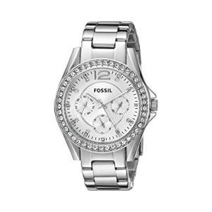 当店1年保証 フォッシルFossil Women's Riley Quartz Stainless Steel Chronograph Watch, Color: Silver (Model: ES3202)|planetdream