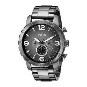 当店1年保証 フォッシルFossil Men's Nate Quartz Stainless Steel Chronograph Watch, Color: Gunmetal (Model: JR1437)|planetdream