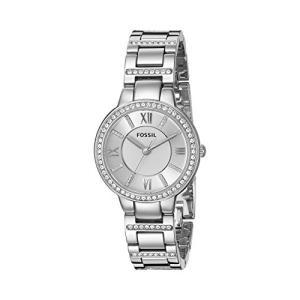 当店1年保証 フォッシルFossil Women's Virginia Quartz Stainless Steel Dress Watch, Color: Silver (Model: ES3282)|planetdream