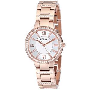 当店1年保証 フォッシルFossil Women's Virginia Quartz Stainless Steel Dress Watch, Color: Rose Gold (Model: ES3284)|planetdream