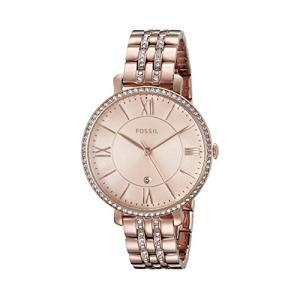 当店1年保証 フォッシルFossil Women's ES3546 Jacqueline Rose Gold-Tone Stainless Steel Watch|planetdream