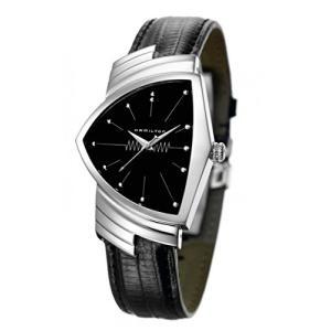 当店1年保証 ハミルトンHamilton Mens H24411732 Ventura Stainless Steel Watch with Black Leather Band|planetdream
