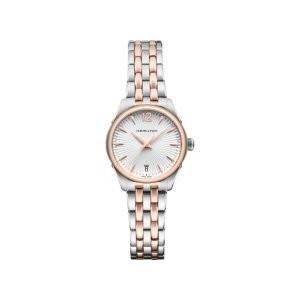 当店1年保証 ハミルトンHamilton Jazzmaster Silver Dial Stainless Steel Quartz Ladies Watch H42221155|planetdream