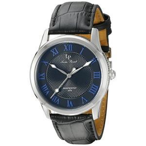 当店1年保証 ルシアンピカールLucien Piccard Men's LP-40005-01-BLA Olympus Analog Display Japanese Quartz Black Watch planetdream